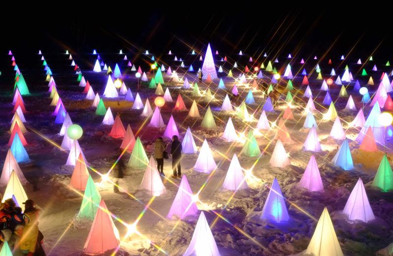 十勝川温泉で開催される冬のイベント「彩凛華」